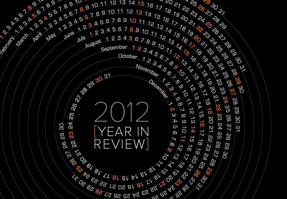 A review and flash back of an amazing 2012